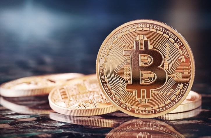 An image of a bitcoin, a popular cryptocurrency
