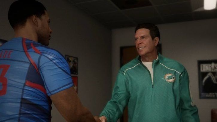 Dan Marino featuring in the Madden 18 Longshot story mode