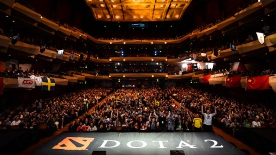 A jam packed Dota 2 eSports event