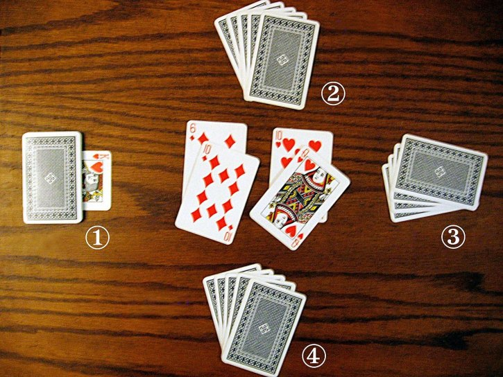 An image from a game of Durak, a popular Russian card game