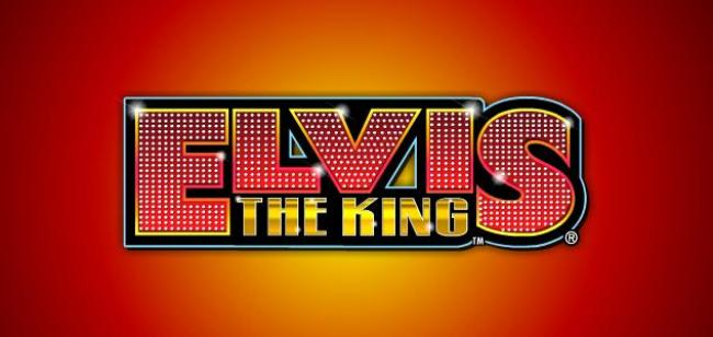 The logo from the Elvis the King slot game