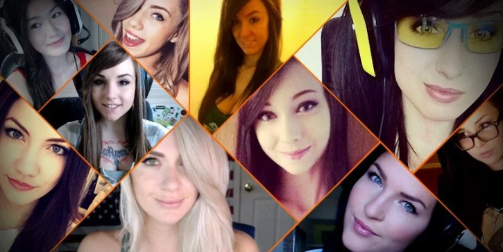 Well known female streamers from the Twitch community