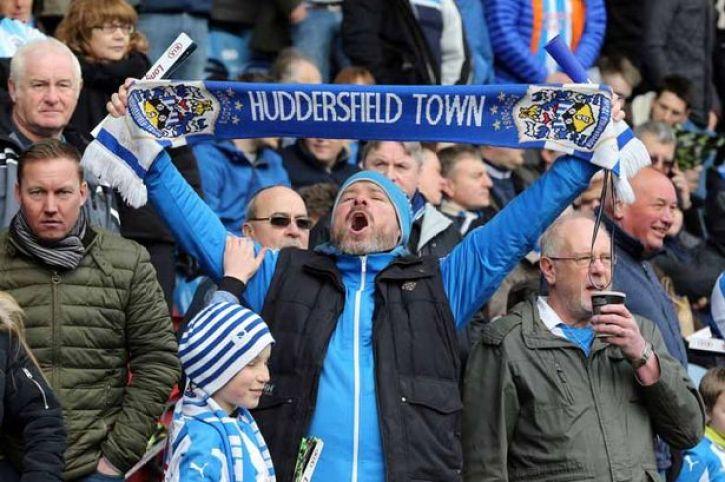 An image of a proud Huddersfield Town fan