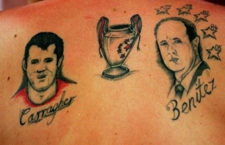 tattoos of Liverpool winning champions league
