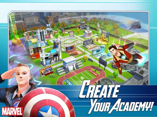 marvel Avengers academy in game screen