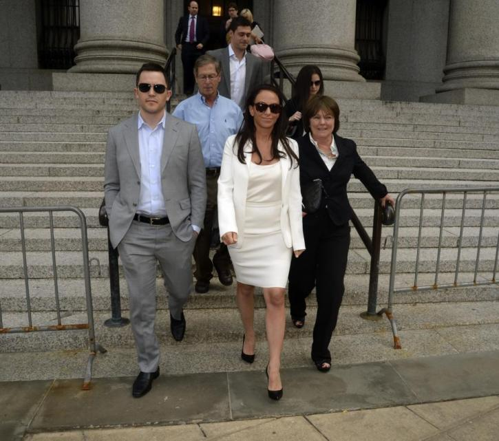 Molly Bloom leaving court
