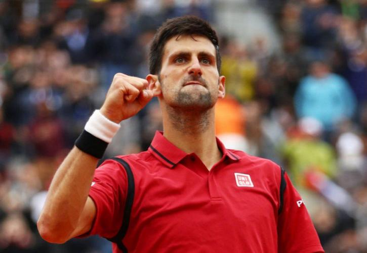 Novak Djokovic celebrating a victory at the French Open