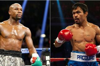 """It should have happened years ago, but who will take down the richest boxing match of all time on May 2?"" (Image: AFP)"