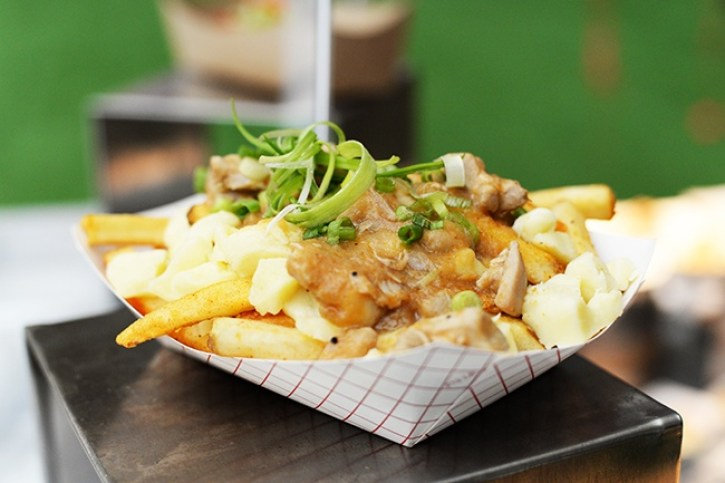 A popular dish sold at Canadian sporting events