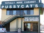 facade of pussycat's club in Vegas