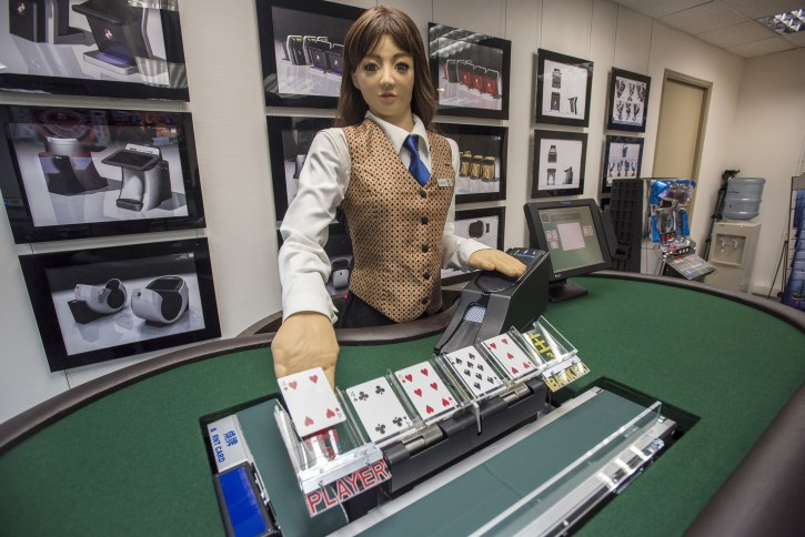 Robot dealers are being introduced into poker games at casinos
