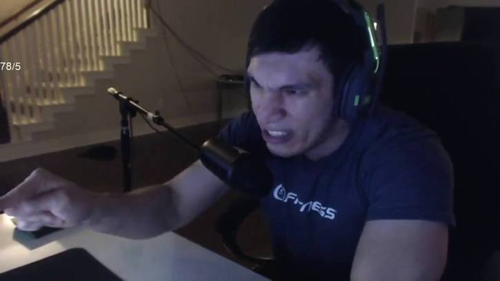 Trainwrecks ranting live on Twitch
