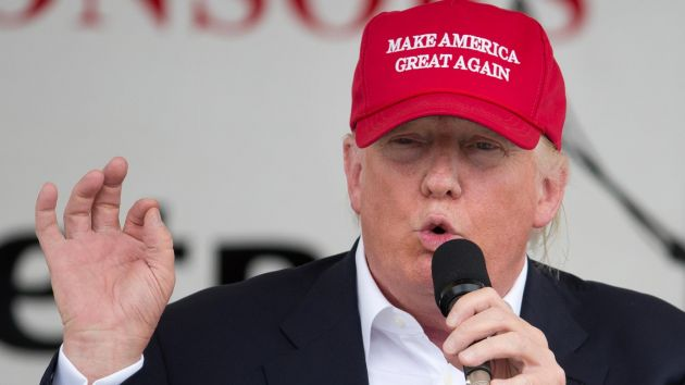 Trump in his red hat