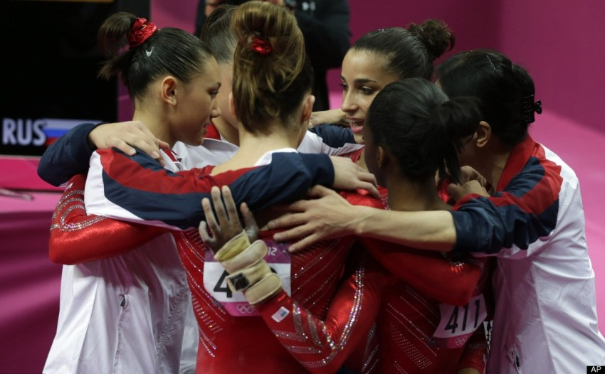 The US Olympic gymnastics team