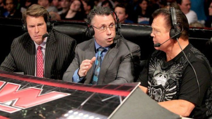 WWE Commentators in debate during a match