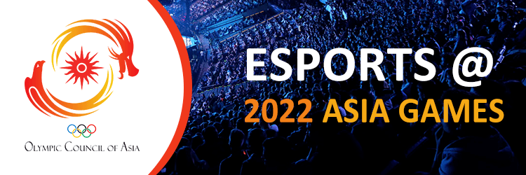 An image of the logo promoting the eSports Asia Games