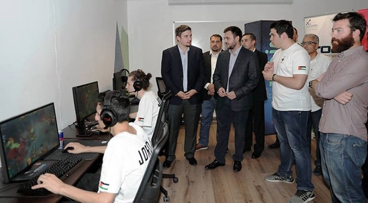 An image of eSports student training on their specific games