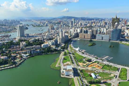 Macau cotai strip photo from above
