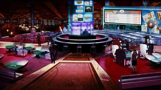 Elegant Casino Gambling Lounge Of The Future