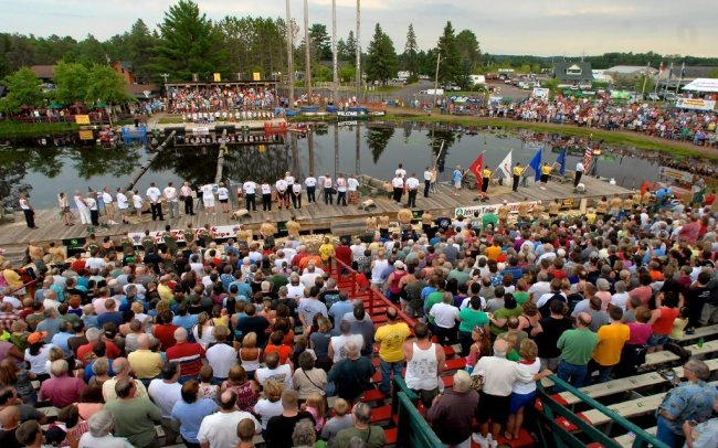 spectators at world lumberjack championship
