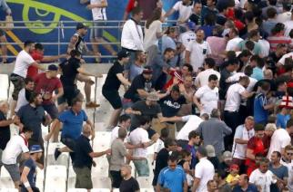 Any more scenes like this, and Russia could be heading home regardless of their Euro 2016 campaign. (Source: AFP)