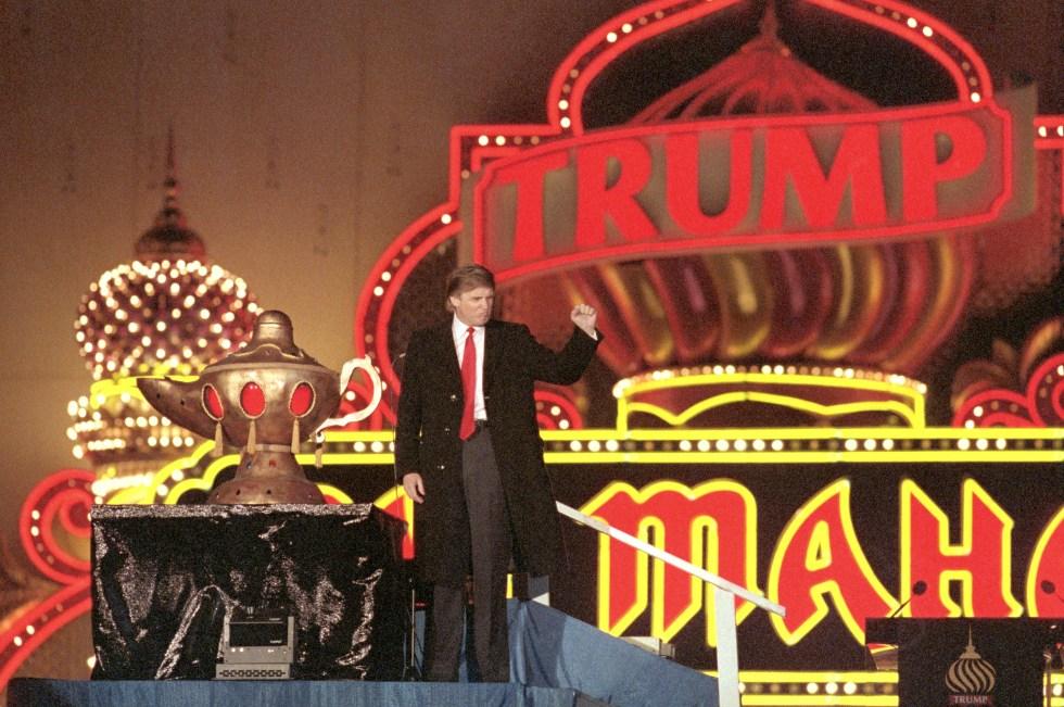 Donald Trump at the Grand Opening of the Trump Taj Mahal. (Source: fortune.com)