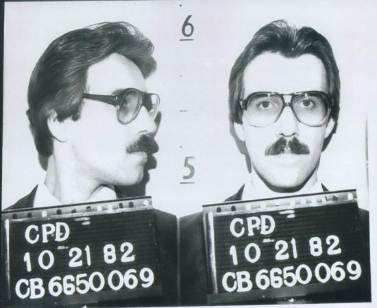 criminal in vegas mugshot black and white photo