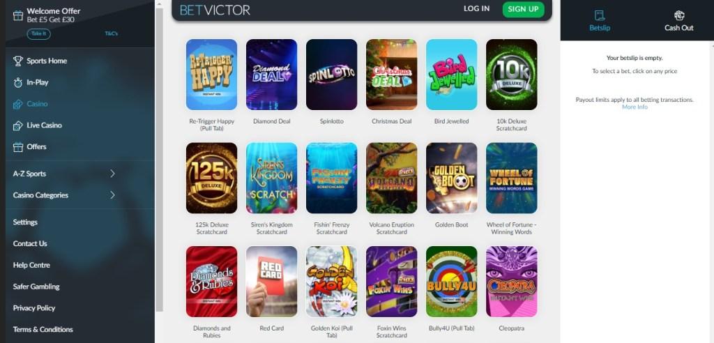Betvictor Casino New Customer Offers