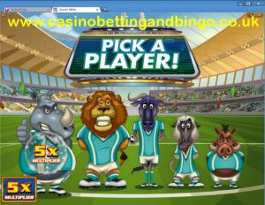 Soccer Safari Bonus Game Screenshot
