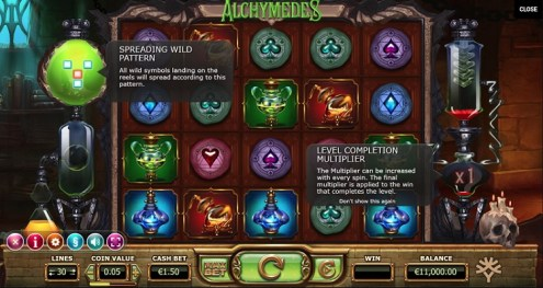 Alchymedes slot game review