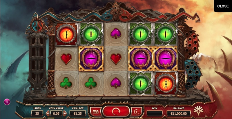 Double dragon slot online game