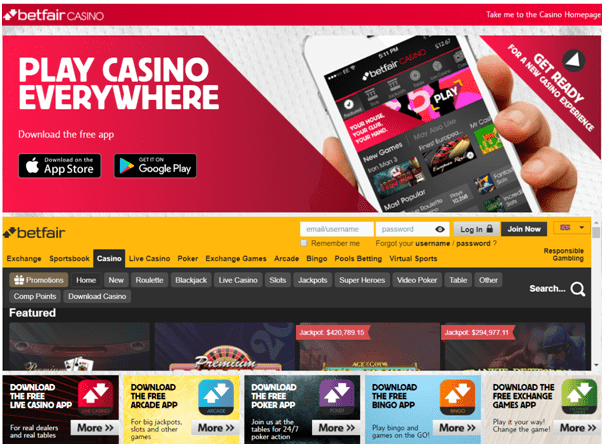Betfair Casino USA