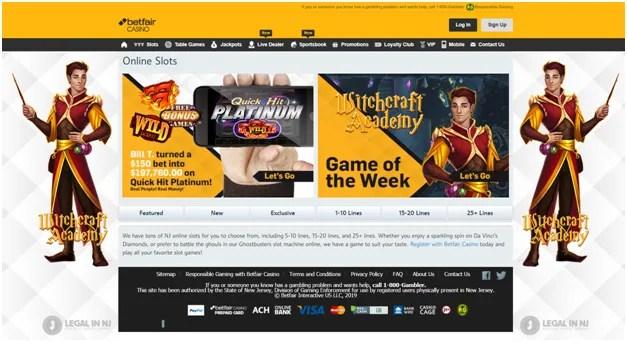 Betfair casino slots