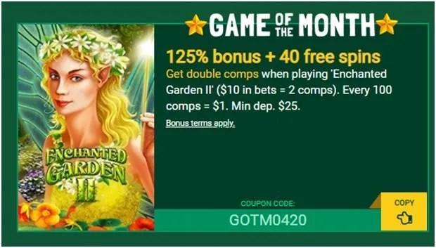 Game of the month bonus
