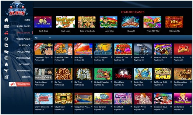 Liberty slots offers over 170 slot machines to play
