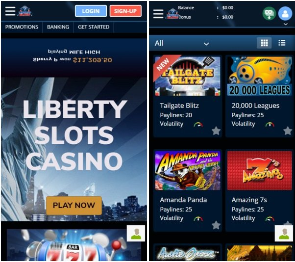 Liberty Slots Mobile Casinos