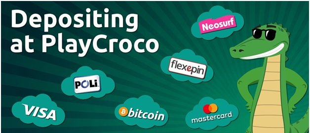 Play Croco casino offers Bitcoin, Neosurf, VISA are few of the deposit options