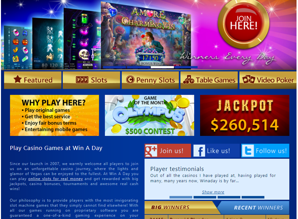 Win a day casino USA