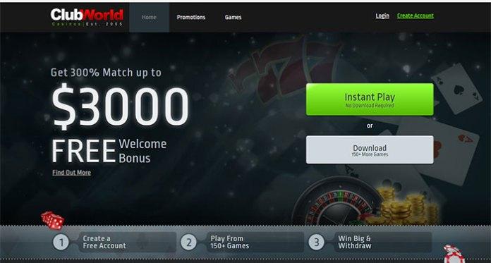 Club World Casino - Resolved