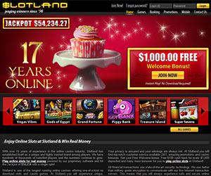 Celebrate Slotland's 17th with a $1K FREE Welcome Bonus