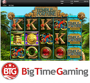 Big Time Gaming's Temple of Fortune Slot on Quickfire