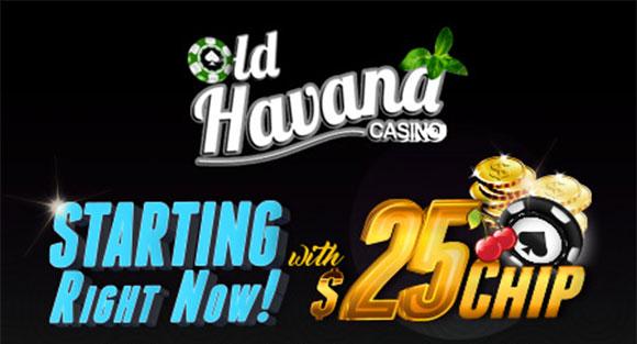 Old Havana Casino $25 Free Chip