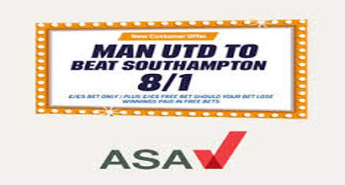 Coral Censured by ASA for Free Bets Advertising