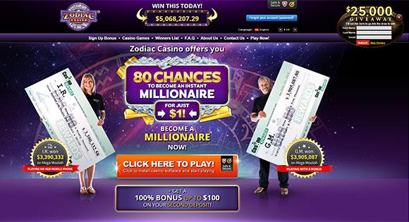 Zodiac Casino Pays Biggest Mobile Win on Mega Moolah