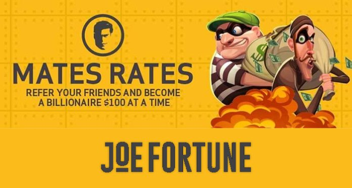 Join Joe Fortune's Mates Rates and Earn Cash + $5K Welcome