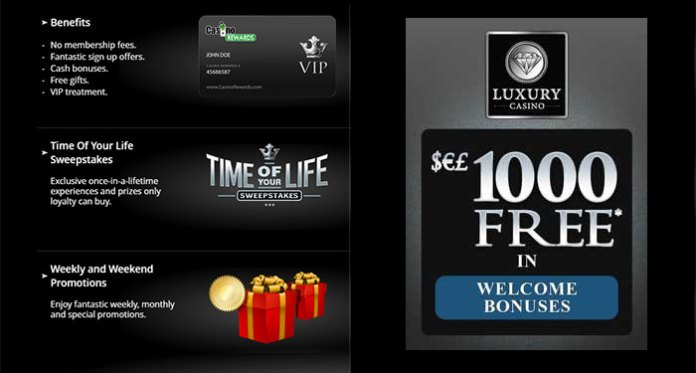 Experience the Time of Your Life Sweepstakes Draw at Luxury Casino