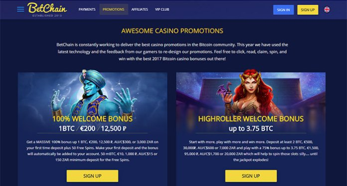 Become a High Roller Winner at BetChain Casino