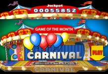 Win up to $300 on Slotland Casino's Carnival Slot + 50% Reload