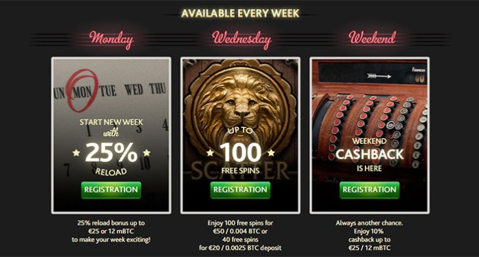Reloads, Free Spins and Weekend Cashbacks at 7 Bit Casino
