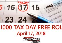 Get A Tax Break with Intertops $1K Tax Day Freeroll